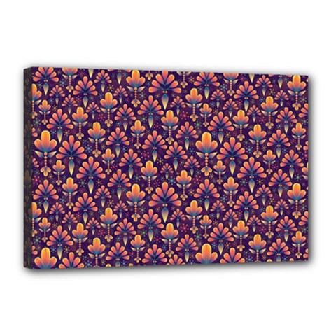 Abstract Background Floral Pattern Canvas 18  X 12  by Simbadda