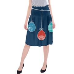 Easter Egg Balloon Pink Blue Red Orange Midi Beach Skirt by Alisyart