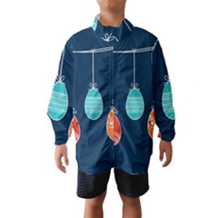 Easter Egg Balloon Pink Blue Red Orange Wind Breaker (kids) by Alisyart