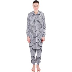 Pattern Motif Decor Hooded Jumpsuit (ladies)
