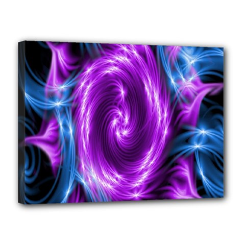 Colors Light Blue Purple Hole Space Galaxy Canvas 16  X 12  by Alisyart