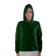 Texture Green Rush Easter Hooded Wind Breaker (women) by Simbadda