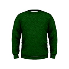 Texture Green Rush Easter Kids  Sweatshirt by Simbadda