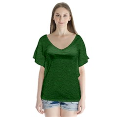 Texture Green Rush Easter Flutter Sleeve Top by Simbadda