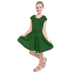 Texture Green Rush Easter Kids  Short Sleeve Dress by Simbadda