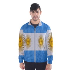 Argentina Texture Background Wind Breaker (men) by Simbadda