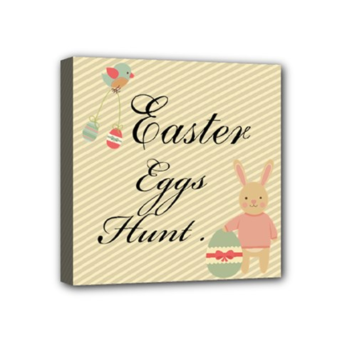 Easter Egg Hunter  Mini Canvas 4  X 4  (framed) by makeunique