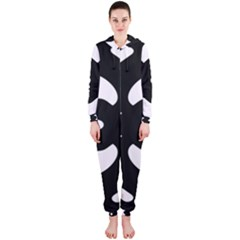 Pattern Background Hooded Jumpsuit (Ladies)