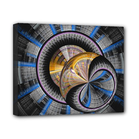 Fractal Tech Disc Background Canvas 10  X 8  by Simbadda