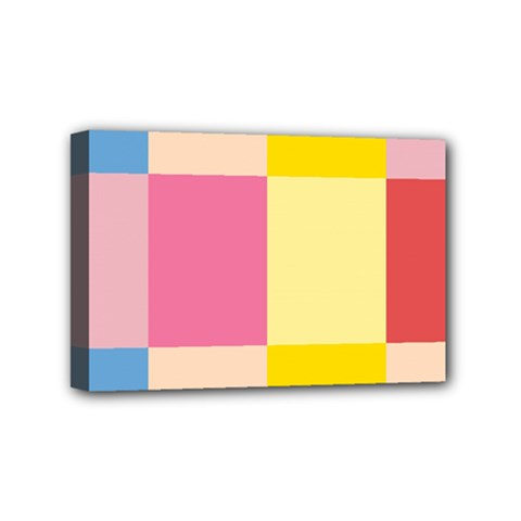Colorful Squares Background Mini Canvas 6  X 4  by Simbadda