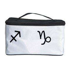 Set Of Black Web Dings On White Background Abstract Symbols Cosmetic Storage Case by Amaryn4rt