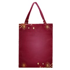 Red Background With A Pattern Classic Tote Bag