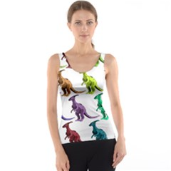 Multicolor Dinosaur Background Tank Top by Amaryn4rt
