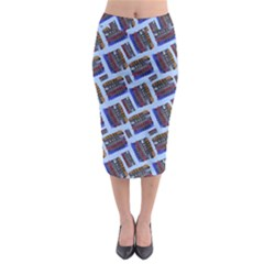 Abstract Pattern Seamless Artwork Midi Pencil Skirt by Amaryn4rt