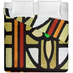 A Detail Of A Stained Glass Window Duvet Cover Double Side (king Size) by Amaryn4rt