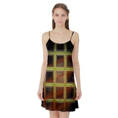 Drawing Of A Color Fractal Window Satin Night Slip by Amaryn4rt