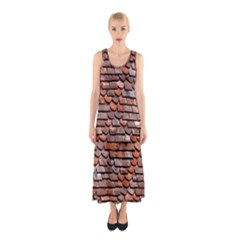 Roof Tiles On A Country House Sleeveless Maxi Dress