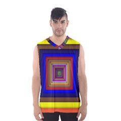 Square Abstract Geometric Art Men s Basketball Tank Top by Amaryn4rt