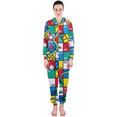 Snakes And Ladders Hooded Jumpsuit (ladies)