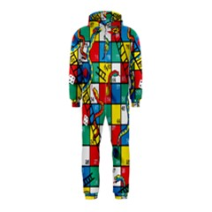 Snakes And Ladders Hooded Jumpsuit (kids) by Amaryn4rt
