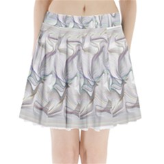 Abstract Background Chromatic Pleated Mini Skirt