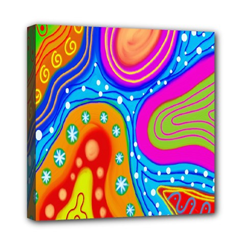 Hand Painted Digital Doodle Abstract Pattern Mini Canvas 8  X 8  by Simbadda
