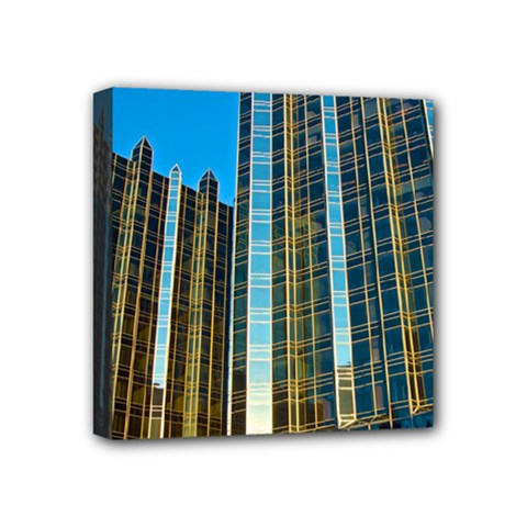 Two Abstract Architectural Patterns Mini Canvas 4  X 4  by Simbadda