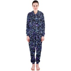 Pixel Colorful And Glowing Pixelated Pattern Hooded Jumpsuit (ladies)