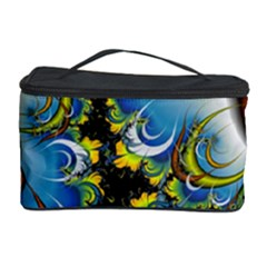 Fractal Background With Abstract Streak Shape Cosmetic Storage Case by Simbadda