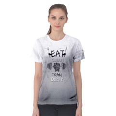 Eat Clean Train Dirty Fitness Women s Sport Mesh Tee by PattyVilleDesigns