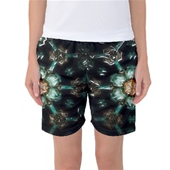 Kaleidoscope With Bits Of Colorful Translucent Glass In A Cylinder Filled With Mirrors Women s Basketball Shorts by Simbadda