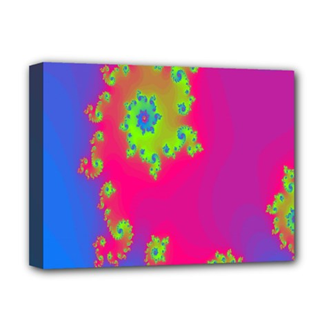 Digital Fractal Spiral Deluxe Canvas 16  X 12   by Simbadda