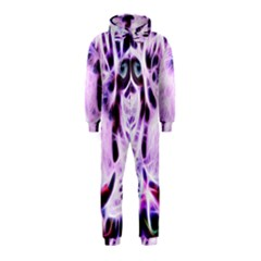 Fractal Wire White Tiger Hooded Jumpsuit (kids) by Simbadda