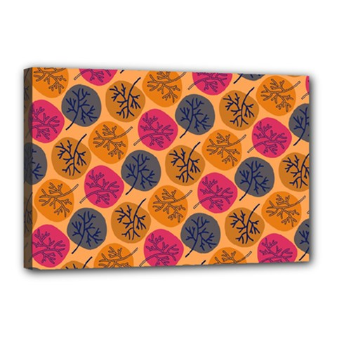 Colorful Trees Background Pattern Canvas 18  X 12  by Simbadda