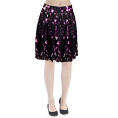 Background Structure Magenta Brown Pleated Skirt by Simbadda