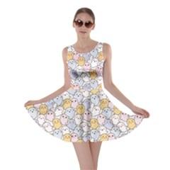 Colorful Kawaii Cute Ghosts Skater Dress