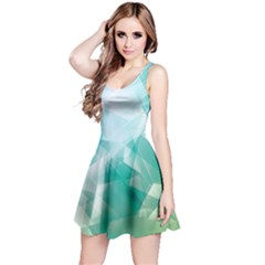 Mint Iridescent Pattern Sleeveless Skater Dress  by CoolDesigns