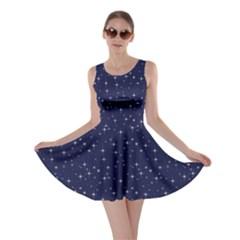 Starry Blue Night Skater Dress
