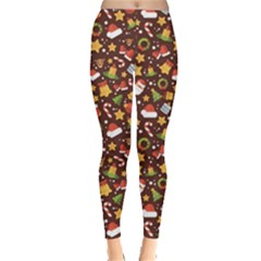 Colorful With Christmas Elements In A Flat Style Leggings