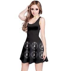 Black Circles Tie Dye Reversible Sleeveless Dress