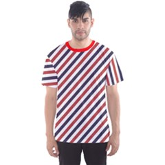 Red Barber Pole Pattern Barber Texture Men s Sport Mesh Tee by CoolDesigns