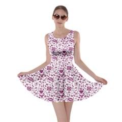 Purple Sex Pattern Skater Dress