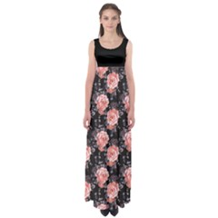 Black Roses Empire Waist Maxi Dress by CoolDesigns