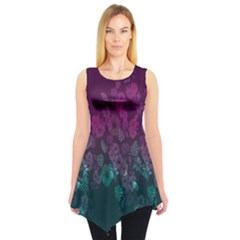 Purplenavy Floral Sleeveless Tunic Top by CoolDesigns