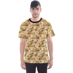 Colorful Vegetable Organic Food Yellow Corn Stalk Pattern Men s Sport Mesh Tee by CoolDesigns
