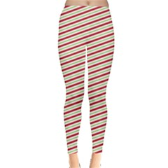 Xmas Stripes Leggings  by CoolDesigns