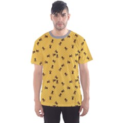 Yellow Pattern Of The Bee On Honeycombs Men s Sport Mesh Tee