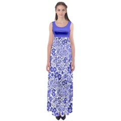 Vintage Blue Empire Waist Maxi Dress by CoolDesigns
