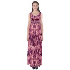 Magenta Tie Dye Empire Waist Maxi Dress