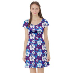 Blue Magic Short Sleeve Skater Dress by CoolDesigns
